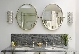 luxury wall mounted oval bathroom mirror