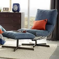 Dorm Lounge Chair Denim Maverick Swivel Lounge Chair U0026 Ottoman Pbteen