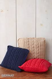 Knitted Cushion Cover Patterns 145 Best Pillows And Cushions Knit U0026 Crochet Images On Pinterest