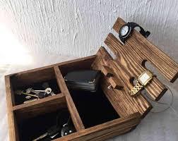 desk organizer wood organizer rustic men u0027s watch box for 4