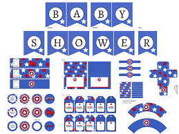 captain america baby shower pack magical printable