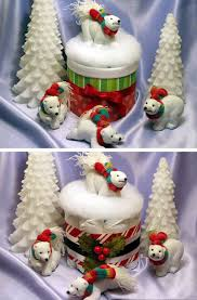 lmk gifts baby shower christmas holiday diaper cake centerpiece
