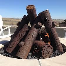 Firepit Logs Premium Steel Pit Gas Logs Custom Woodlanddirect