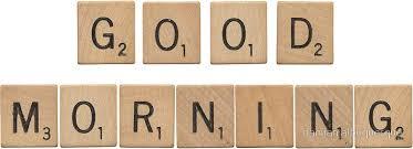 scrabble wood letters u0027good morning u0027