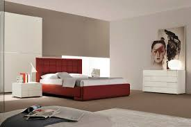 Red And White Modern Bedroom Contemporary Leather Bed Zamp Co