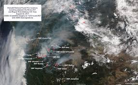 California Wildfire Smoke Map by California Smoke Information 08 24 17