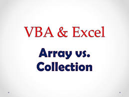 vba u0026 excel lesson 3 array vs collection youtube