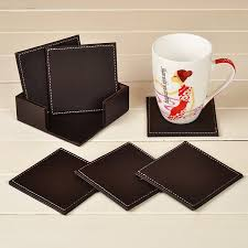 Leather Home Decor by Compare Prices On Leather Coaster Set Online Shopping Buy Low