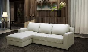 Left Sectional Sofa Lauren Premium Leather Sectional Sofa Sleeper In Cream Free