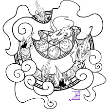 sombra stained glass line art by akili amethyst on deviantart