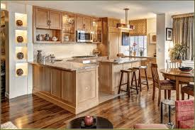 kitchen design oak cabinets simple brown wooden floor plank sleek
