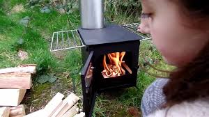 tent stove bushcraft kp stove fire box youtube