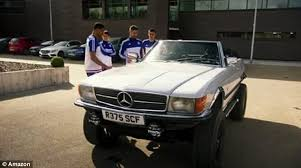 mercedes tour clarkson dupes chelsea players after attempting to impress