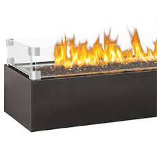 The Patio Flame Linear Patioflame Glass Deflector Jpg