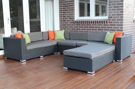 l shape modular outdoor wicker furniture setting outdoor wicker