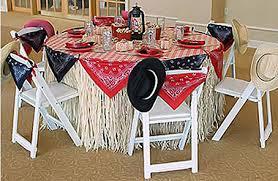 Cowboy Decorations Western Cowboy Bandana Baby Shower And Birthday