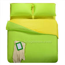 turquoise and yellow solid duvet cover bedding mercerized cotton