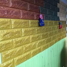 3d Wallpaper Home Decor by 3d Wallpaper Brick Design Foam Wallpaper Diy Home Decor Self