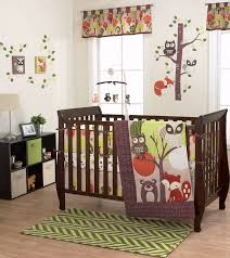woodland animals baby bedding amazon com foxy friends 4 piece baby crib bedding set by belle
