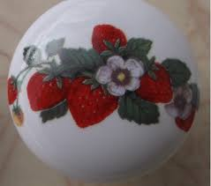 Ceramic Kitchen Cabinet Knobs by Ceramic Cabinet Knobs With Strawberrys Strawberries