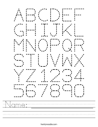 name worksheet twisty noodle