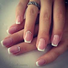 beautiful silver bead studded french tip nails the nails start