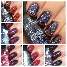 the polishaholic jessica effects glitzy collection swatches u0026 review