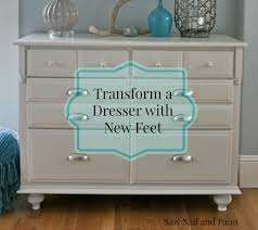 Update A Dresser Traditional Maple Dresser Makeover Tutorial On Adding Feet To A