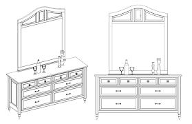 Drawing Of A Bed 512 Custom Woodworking Archive Dresser Axonometric U0026 Elevation