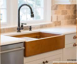 copper apron front sink legacy copper farmhouse sink drop in bowl havens metal