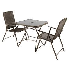 Folding Bistro Table And Chairs Set Roma Resin Wicker Folding Bistro Set 3 Piece Christmas Tree