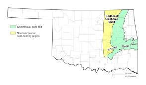 Map Of Oklahoma Counties Coal Illustrations And Maps