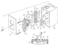 patent us6786766 electrical outlet box with secure quick connect
