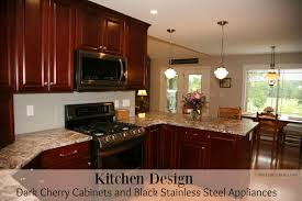 kitchen designs with black cabinets kitchen design dark cherry cabinets and black stainless steel