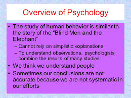 The Blind Men And The Elephant Analysis The Study Of Psychology What To Expect Social Sciences U2013explore
