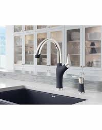 what to look for in a kitchen faucet blanco artona silgranit look dual finish kitchen faucet royal