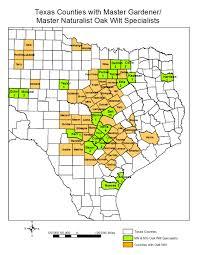 Midland Texas Map Texas Oak Wilt Information Partnership