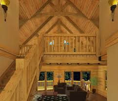 a frame log home floor plans