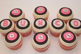 bunco party bunco cupcakes