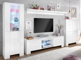 Wohnzimmerschrank Chalet Tecnos Wohnwand Weiß Hochglanz Push To Open Funktion Fsc