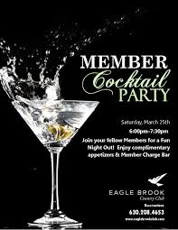 member cocktail party eagle brook country club