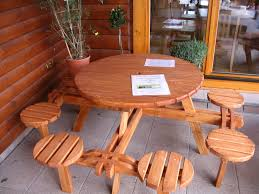 Plans For Picnic Table With Attached Benches by Table Plans For Picnic Table Beautiful Round Picnic Table