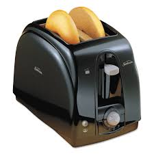 Usa Made Toaster Sunbeam Extra Wide Slot Toaster 2 Slice 7 X 11 1 2 X 7 8 Black