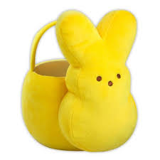 peeps basket easter peeps yellow plush bunny basket target