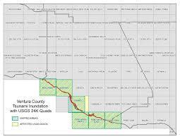 ventura county map ventura ventura county tsunami inundation maps