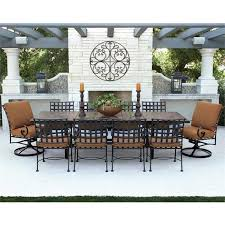 ow lee classico wrought iron dining set expandable table