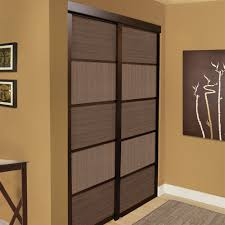 Sliding Closet Doors Lowes Shop Unbranded Espresso Cafe Sliding Closet Door At Lowe S Canada