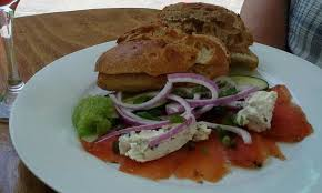 bleu orleans cuisine smoked salmon bleu cheese lox bagel picture of the green