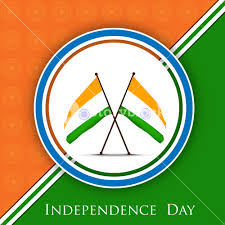 National Flags With Orange Indian Independence Day Background With National Flags Royalty