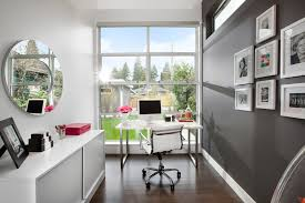 office bathroom decor home office modern with round mirror desk